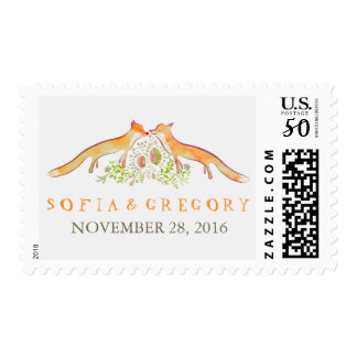 Whimsical Fox Love Postage Stamps