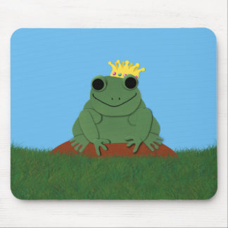 Whimsical Frog Prince with Crown Mousepads