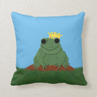 Whimsical Frog Prince with Crown Pillows