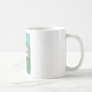 Whimsical Frog with Thanks Thank You Sign Funny Coffee Mug