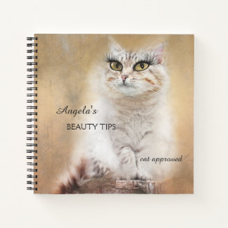 Whimsical Funny Girly Cat Notebook
