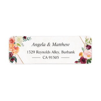 Whimsical Garden Bloom Floral Botanical Label