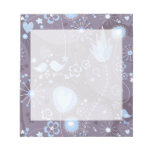 Whimsical garden in blue and grey memo notepads