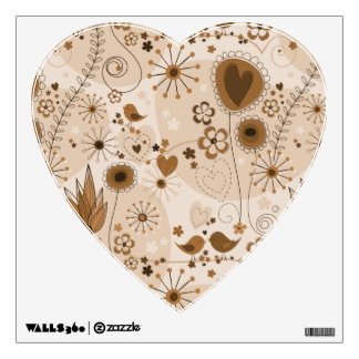 Whimsical Garden in Brown Wall Decal