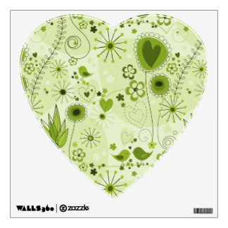 Whimsical Garden in Green Wall Decal