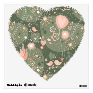 Whimsical Garden in Orange Wall Decal