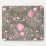 Whimsical Garden in Pink mousepad