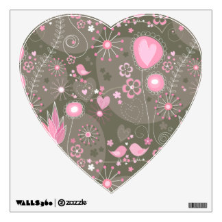 Whimsical Garden in Pink Wall Decal