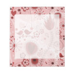 Whimsical garden in red scratch pad