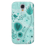 Whimsical Garden in Turquoise  Samsung Galaxy S4 Cases