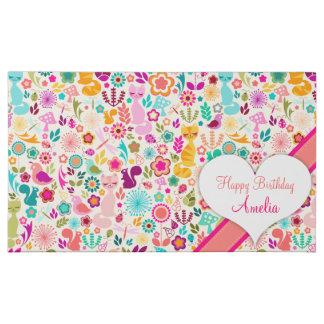 Whimsical Garden Kitty - Custom Message 45 Piece Box Of Chocolates
