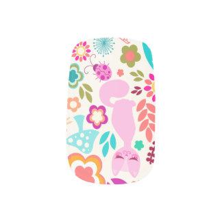 Whimsical Garden Kitty - Cute & Colorful Minx® Nail Wraps