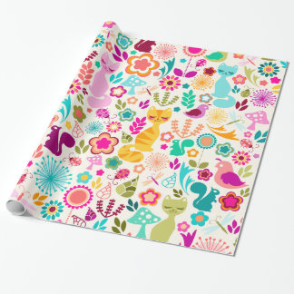 Whimsical Garden Kitty - Wrapping Paper