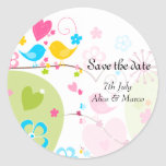 "Whimsical Garden ""Save the Date"" Sticker"
