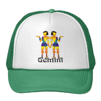 Whimsical Gemini Caps Trucker Hat