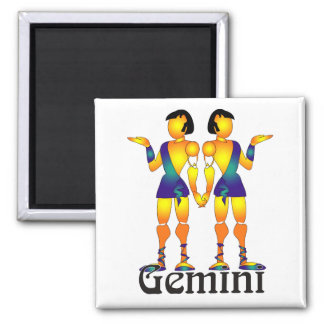 Whimsical Gemini Magnets