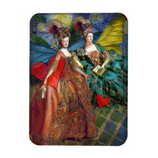 Whimsical Gemini Women Butterflies Fun Collage Magnet