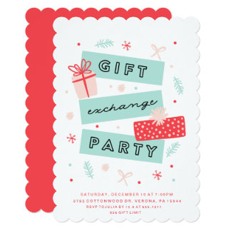 Gift Exchange Party Invitations
