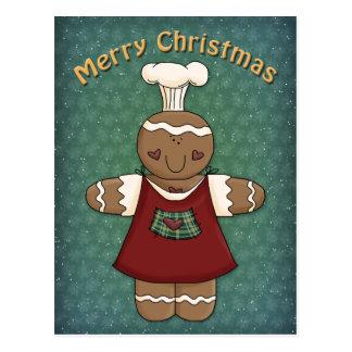 Whimsical Gingerbread Girl Postcard