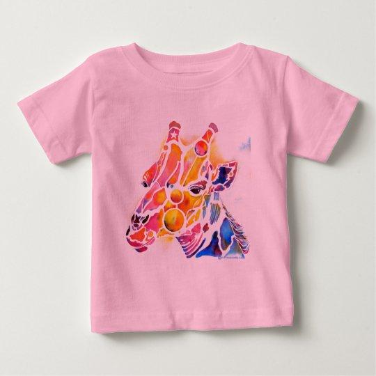 Whimsical Giraffe Baby T-Shirt