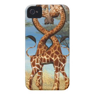 Whimsical Giraffes Twisted Love iPhone 4 Cover
