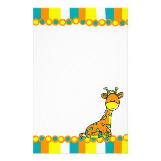 Whimsical Girafffe Customized Stationery