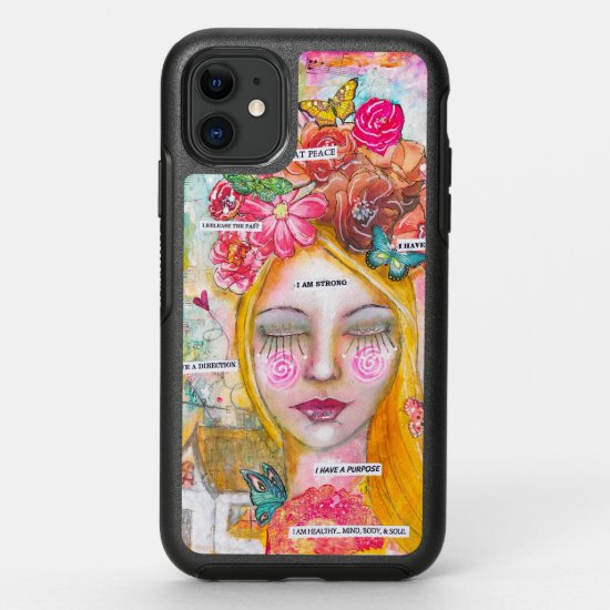 Whimsical Girl Artsy Colorful Butterfly Fun Floral OtterBox Symmetry iPhone 11 Case