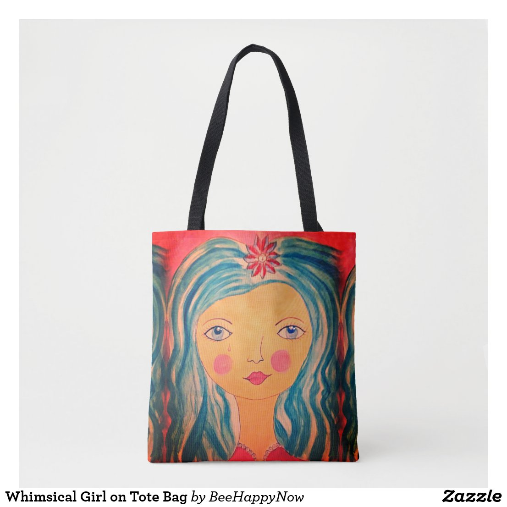 Whimsical Girl on Tote Bag