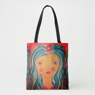 Whimsical Girl on Tote Bag