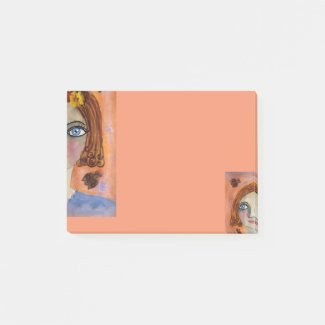 Whimsical Girl Post-it Notes