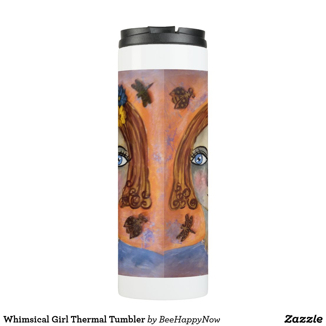 Whimsical Girl Thermal Tumbler