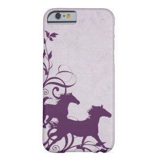 Whimsical Girly Purple Wild Horses Barely There iPhone 6 Case