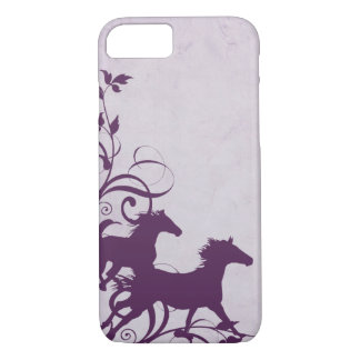 Whimsical Girly Purple Wild Horses iPhone 7 Case