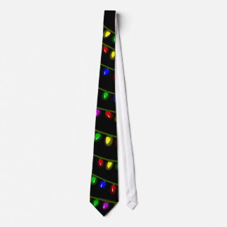 Whimsical Glowing Christmas Lights Tie