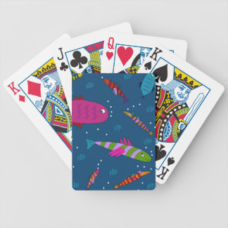 Whimsical Go Fish Fishing Festive Playing Cards