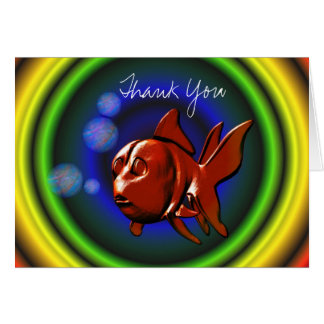 Whimsical Gold Fish Thank You Card