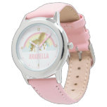 Whimsical Gold Unicorn Girl&#39;s Wrist Watch<br><div class='desc'>Sweet personalized unicorn design.</div>