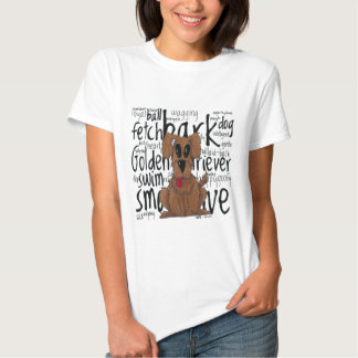 Whimsical Golden Retriever T Shirt