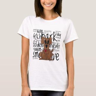 Whimsical Golden Retriever T-Shirt