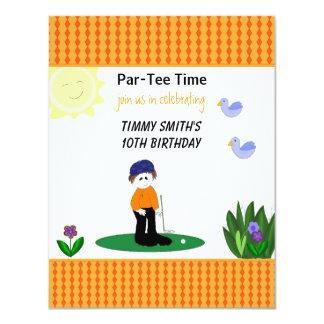 Whimsical Golfing Birthday Party Invitation