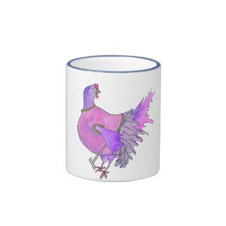 Whimsical Golfing Chicken Mug