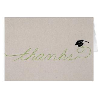 Whimsical Graduation Thank You: Green Card