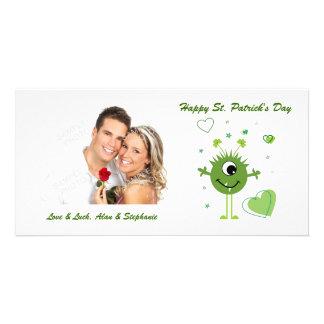 Whimsical Green Alien Monster St. Patrick's Day Card