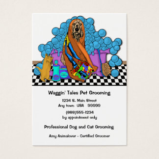 Whimsical Grooming Business And Appointment Card