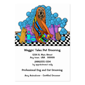 Whimsical Grooming Business And Appointment Card Large Business Cards (Pack Of 100)