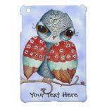 Whimsical Grumpy Owl iPad Mini Cover