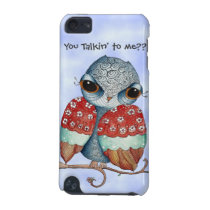 Whimsical Grumpy Owl iPod 5g Case