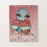 Whimsical Grumpy Owl Puzzle