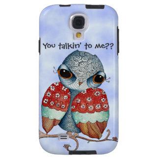 Whimsical Grumpy Owl Samsung Galaxy S4 Case