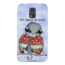 Whimsical Grumpy Owl Samsung Galaxy S5 Case